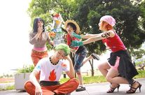 nami satsuki  :One Piece CosplayZoro by Kou, Luffy by ??Nami by