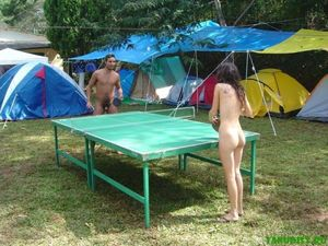 nudisthotspot:Table Tennis…Without being confined by clothes