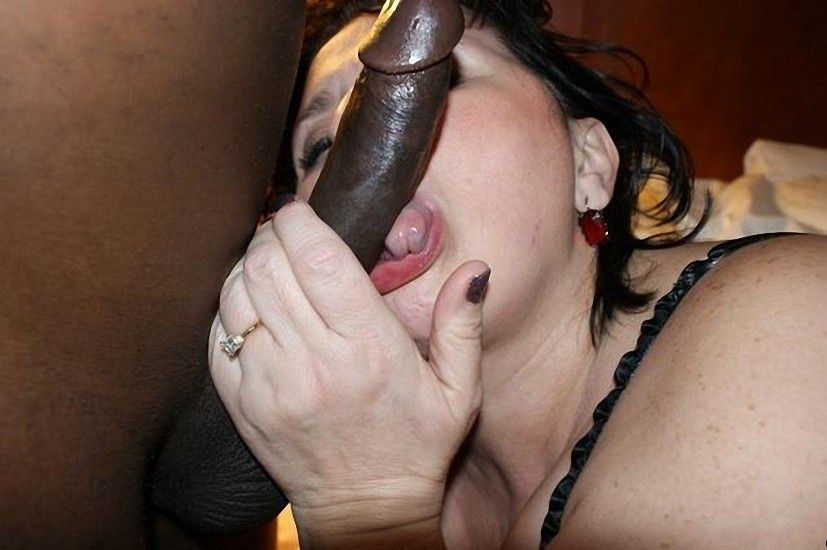 Interracial Cock Sucking Slut