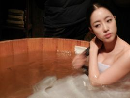 Eunjung had a bath scene  While there isn't much cleavage or skin, it