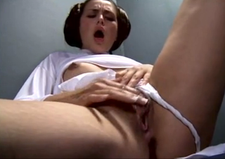 Nude Free: Princess Leia's alone time