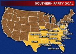 Map Southern USA States