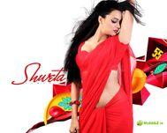 Shweta Tiwari Cherry Red Hot Saree