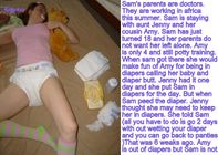 abdl sissy diaper captions: some new sissy strap on diaper captions
