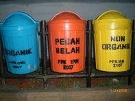 Jual Tempat Sampah Organik Non Organik Fiberglass