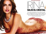 Irina Shayk nude on the Elle Spain December 2011 cover
