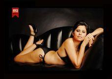 Sai Tamhankar's Cleavage Show in Sexy Black Bikini