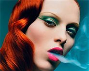 The British model Karen Elson by the London based fashion photographer