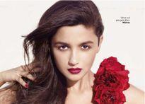 Sexy Alia Bhatt in rose embedded dress