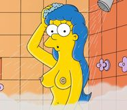 MargeSimpson+TheSimpsons+shower jpg