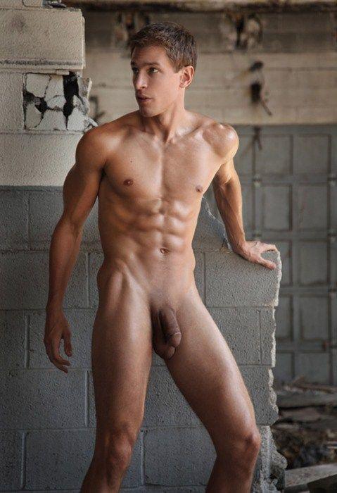 Naked Boy Erect Penis