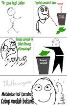 sampah basah dan sampah keringnya sob misalnya sampah organik
