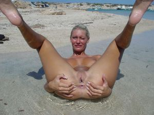 Blonde Euro Chick Butt Naked On Beach In Aruba | best beauty pic II