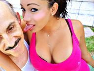 Outrageous Porn : Outrageous Porn XXX Busty Latina Teen Fucks Old Man