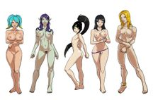 this is a nude version of some of the league of legend swimsuit fanart