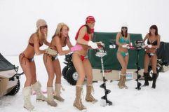 Minion Flyfishing: 2012 Exotica Swimwear Bikini Ice Fishing Team