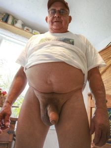 gay - big bear uncut cock - gay older men pics - old man naked gay