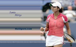 Hotxporn: Sania Mirza Boobs Transperent Through her T Shirt Nude Fake