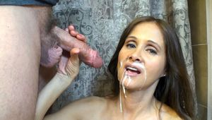 mother son english incest son cum on his moms face
