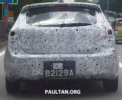 Gambar Terbaru Rear View Model Proton Preve Hatchback P3-22A Bocor di Internet