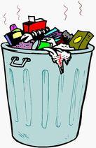 sampah juga dapat di golongkan dari sifatnya sampah organik dan