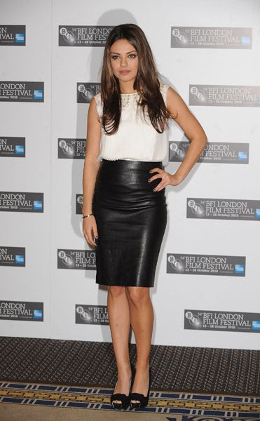 Long Leather Skirt