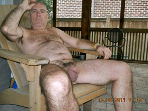 gay silver dad - senior gay dad - hairy ordinary person