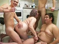 horny old mother having orgy with young boys