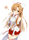 Zero Uploads: Sword Art Online  Nekomimi Asuna and Beckoning(?) Asuna