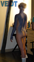Jennifer Lawrence: Mystique Behind the Scenes Body Paint Process [NSFW