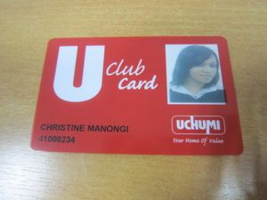 Sintah Com: SINTA'S U CLUB CARD FROM UCHUMI SUPERMARKET