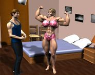 Area Orion: 3D Rendered Muscle Women