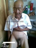 Love Old Man: Thin old man cock