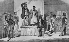 slave auction in richmond virginia 1853 the illustrated london news
