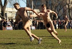 Wrestling With Retirement: Nude Rugby?