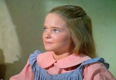 Melissa Sue Anderson in the early years of Little House on the Prairie