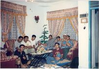 raya gathering apek, poji, me, man, moc, arab, fuad and others