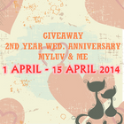 GIVEAWAY 2ND YEAR WED. ANNIVERSARY MYLUV & ME