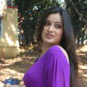 Tamil Actress Navneet Kaur Hot Curvy Figure Pics In Green Saree