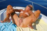 bbraul submission tanlines big pussy lips spread wide outdoors boat