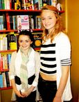 Maisie Williams and Sophie Turner at the November 4th Belfast book