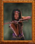Black Women Art!, Michonne Danai Gurira by *hellinkillr