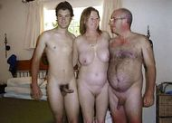 Real father and son swingers