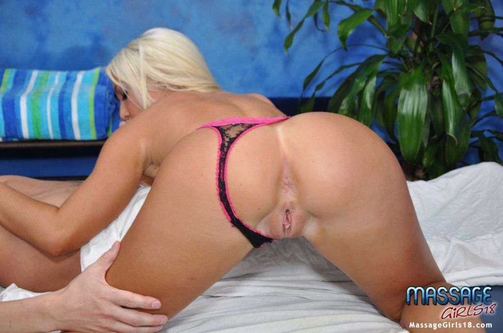 Cute Blonde Gives More Than Massage