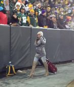 WOMEN BLOG : ESPN's Josina Anderson Wears A Lot Of Leather At Lambeau