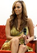 Tyra Banks in Carlos Miele at the Asia's Next Top Model Press