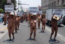 SANTO CIELO!! Y TODAS ESTAS MUJERES DESNUDAS PROTESTANDO