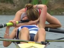 Rowing is strenuous stuff in the Olympics as this British rower proves