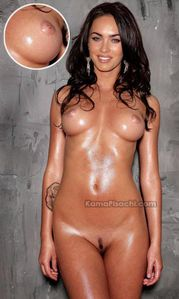 Megan fox full nude showing her oiled breasts and pussy