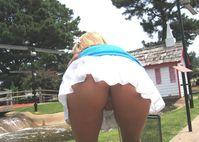 minigolf upskirt  Public Upskirts